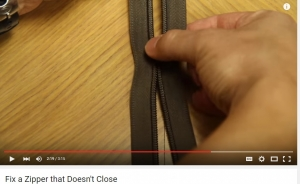 Fix a Zipper on YouTube