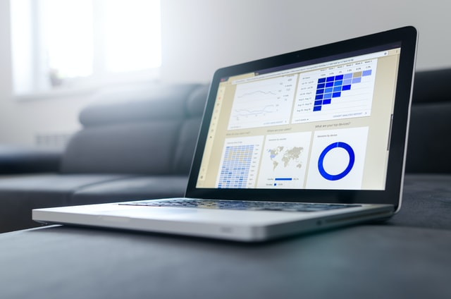 Image of a laptop with analytics open